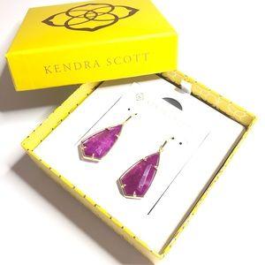 Kendra Scott Carla earrings in Purple Jade